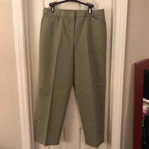 Talbots Petites - NWOT Sage Green Slacks - Size 12